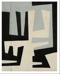 Estudo para pintura, c. 1953. Gouache on paper glued on paper