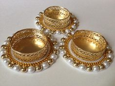 Diwali Decoration Items, Thali Decoration Ideas, Diwali Decorations At Home, Gold Wedding Decorations, Candle Art, Candle Holder Decor, Tealight Candle Holders, Diwali Craft, Diwali Gifts