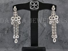 A diamond styled chandeliers from our mesmerize Collection in 925 silver!                  Simply irresistable!                                                      https://www.facebook.com/pages/Damiya-Jewellers/289361234463272?ref=hl