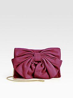 RED Valentino - Leather Bow Shoulder Bag .. Elegant!