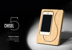 Chisel 5 iPhone Bamboo Dock By iSkelter http://coolpile.com/gadgets-magazine/chisel-5-iphone-bamboo-dock-iskelter/ via @CoolPile $39