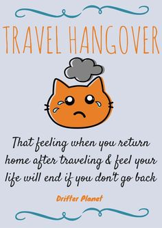 "Have you ever experienced a ""travel hangover""? Well back in November 2013, my best friend Rosh and I did. This happened right after returning back to India from a backpacking trip in Thailand. Travel Hangover is that disgusting feeling when you feel your life is about to end because you're back home from a trip and you're not traveling anymore. Read how my travel hangover made me meet my soulmate! : http://drifterplanet.com/my-travel-hangover-made-me-meet-my-soul-mate/"
