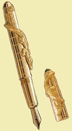 Cartier Crocodile pen ♥✤ | Keep the Glamour | BeStayBeautiful