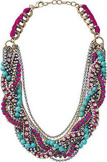 Turquoise and magenta necklace