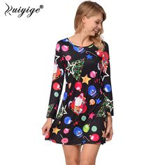 $5.57 -Cheap vestido a, Buy Quality loose dress directly from China a dress Suppliers: Ruiyige 2018 Spring Women A Line Loose Dresses Novelty Cartoon Santa Claus Mini  #dresses #womensdresses #womensfashion #womenswear #womenshealh #womensrights #womensday #ladies #womenclothing womens fashion womens fashion casual womens fashion for work womens shoes womens march dresses to wear to a #wedding dresses for teens formal top prom dresses on wanelo top prom dresses on pinterest
