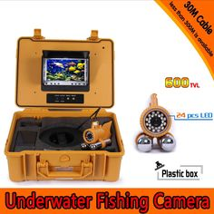 302.39$  Know more  - Underwater Fishing Camera Kit with 30Meters Depth Dual Lead Bar & 7Inch Color TFT LCD Monitor & Yellow Hard Plastics Case