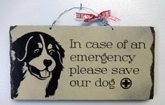 Please SAVE OUR DOG. Handmade Gifts on a Budget painted,rustic wooden sign.