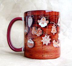 """Чашка """"Рождественский пряник"""" 350 мл керамика, сублимационная печать 12$"""