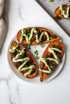 Whole Food Recipes, Cooking Recipes, Sweet Potato Skins, Vegetarian Recipes, Healthy Recipes, Vegan Foods, Aesthetic Food, Food Cravings, I Love Food