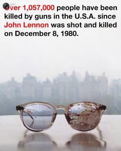 Yoko Ono's plea for gun control expressed in one image: John Lennon's blood-splattered glasses Yoko Ono, Anais Nin, Ringo Starr, George Harrison, Barack Obama, John Lennon Glasses, Gun Control, Spice Girls, Change The World
