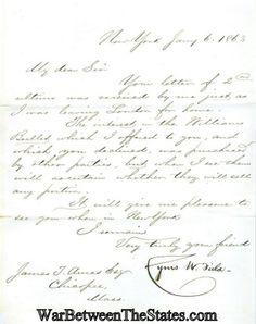 Autograph, Cyrus W. Field