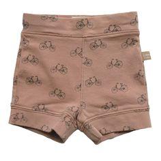 Dark cream printed shorts- lötiekids