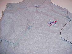 NASA Logo Gray National Aeronautics and Space Administration Unisex Polo  Shirt L ded7199751