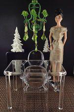 "Miniature Ornamental ""Chandaleir"" 4 Barbie Silkstone, FR, Barbie Doll Displays"