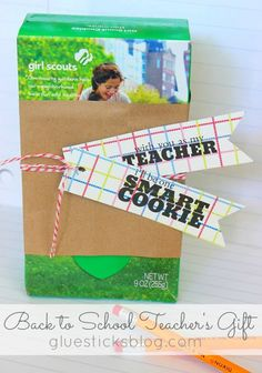 EASY Back to School or Teacher's Appreciation Gift - Gluesticks #pickyourplum #bakerstwine
