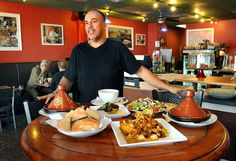 Moroccan food by gracious host in Norwood