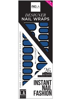 Or Maybe We Can See a Movie nail wraps from NCLA, dark navy blue with black outline detail, gorgeous unique manicure, DIY simple nail ideas