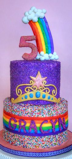 Rainbow Cake Cupcake Birthday Cake, Cupcake Cakes, Beautiful Cakes, Amazing Cakes, Fondant Rainbow, Cake Decorating For Beginners, Oreo Cake, Crazy Cakes, Take The Cake