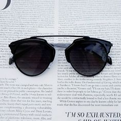 """Lila Round Sunglasses Details  * Lila Round Sunglasses * 6 x 2.0"""" approx.  I'm modeling the same sunnies in different colors. Accessories Sunglasses"""