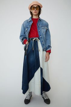 Acne Studios' Denim Collection Is Filled With Nods to Style Denim Skirt Outfits, Denim Outfit, Denim Fashion, 90s Fashion, Denim Patchwork, Vintage Denim, Acne Studios, Indigo Blue, Skirts
