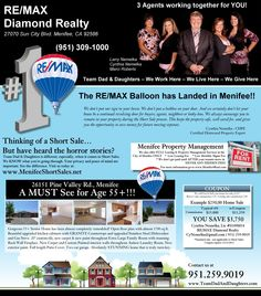 Menifee CA Real Estate ~ RE MAX ~ Diamond Realty