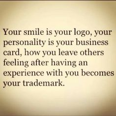 Smile. Trademark. Business Card.