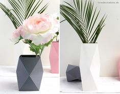 DIY Origami Vase # 4 and my special relationship with my babyborn (not) - Easy Idea Diy Origami, Origami Vase Easy, Origami Guide, How To Make Paper, Crafts To Make, Diy Crafts, Paper Vase, Diy Paper, Paper Magic