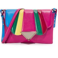 Sara Battaglia Tulip Shoulder Bag ($1,110) ❤ liked on Polyvore featuring bags, handbags and shoulder bags