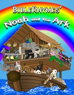 Updates happen around the clock for BibleRhymes artwork. Noah and the Ark is one of the BibleRhymes stories that has gotten a full makeover. Twenty-eight pages of this story have illustration updates. And aside from a few tweaks left, this is the new cover for the book.