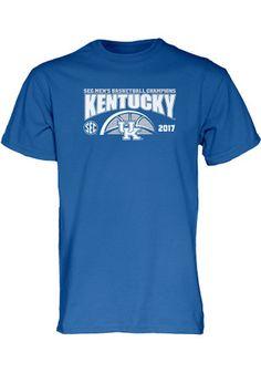 Kentucky Mens Blue 2017 SEC Basketball Conference Championship Tee