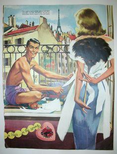 Vintage Magazine Story Art Paris Romance