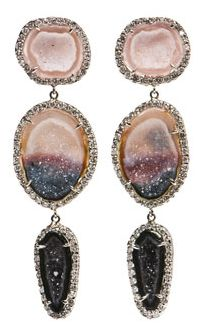 kimberly mcdonald geode & diamond earrings