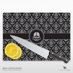 Darth Vader Star Wars Damask Glass Cutting Board