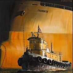by Dirk Verdoorn Marine Francaise, Marine Engineering, Honfleur, Abandoned Ships, Float Your Boat, Nautical Art, Tug Boats, Sea And Ocean, Ship Art