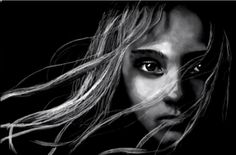 White Charcoal Drawing of Cosette!   See the Drawing Here: http://youtu.be/BT7t4DmL1vk  Rob Stroud, England.  #theatre #lesmis #musicals www.lesmis.com