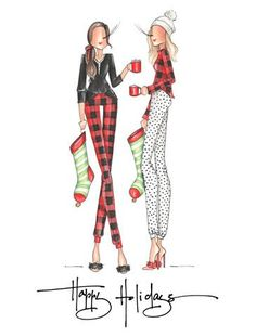 Have you seen our new PJ girls? They're ready for Santa! You can find these two on a greeting card and on our cute new gift tags. Snag some now to beat the Christmas rush 🎄🎄🎄 Fashion Art, Girl Fashion, Fashion Outfits, Ballet Fashion, Christmas Pictures, Christmas Art, Christmas Presents, Christmas Holidays, Become A Fashion Designer