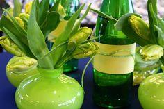 Centres de table, tulipes perroquet, par Tapis Rouge gestion d'événements.