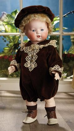 Sanctuary: A Marquis Cataloged Auction of Antique Dolls - March 19, 2016: Wonderful German Bisque Character, 363, a Rare Model by Heubach Koppelsdorf