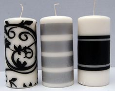 Tissue paper candle craft.