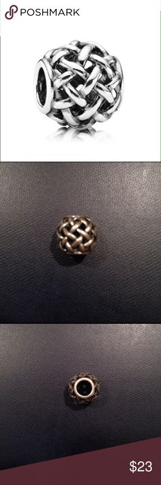 PANDORA Forever Entwined charm Authentic. Hardly worn. Good condition! Pandora Jewelry