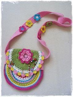háčkovaná kabelka ... crochet handbag for little girl (pattern - step by step)