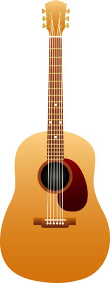 Free clip art of a wooden classical acoustic guitar