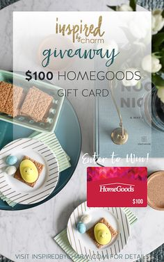 Celebrate spring with a decor update! #GoFinding with @inspiredbycharm and ENTER TO WIN a $100 @HomeGoods Gift Card!! #giveaway