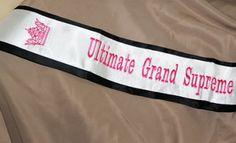 Ultimate Grand Supreme Pageant Sash