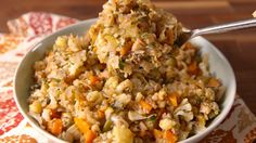 Cauliflower Stuffing is the healthiest (and tastiest) alternative you can make for Turkey Day.