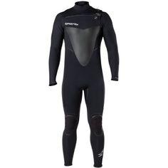 Hyperflex Wetsuits Men's Voodoo 4/3mm Front Zip Fullsuit, Black, Medium Long *** For more information, visit image link.