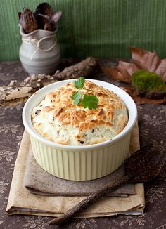 The Noncollapsible Cheese Souffle with Mushrooms and Wasabi