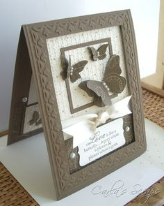 Carla's Scraps: PPA 86 Embedded Embossing and Tulip Frame Tutorial  Shadow box