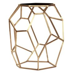 Matrix Gold Side Table @Zinc_Door. To See More Of The Geometric Design  Trend,