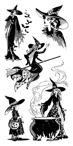 Inkadinkado Clear Stamps, Witches
